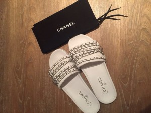 Brand new Chanel Sliders size 5