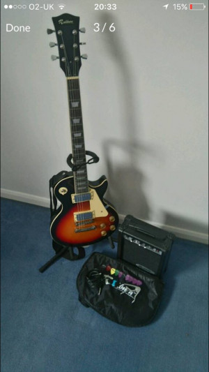 Rockburn Electric Guitar Sunburst