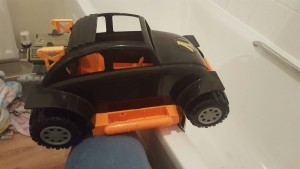 Vintage 1990's Hasbro Action Man VW Baja Beetle.