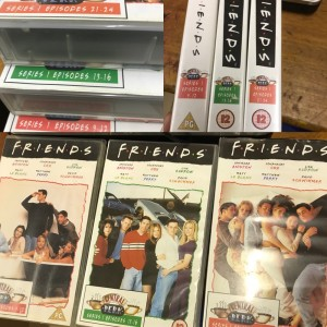Incomplete FRIENDS series 1-9 VHS tapes