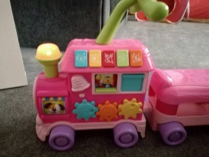 ride on or push along pink train toy baby toddler