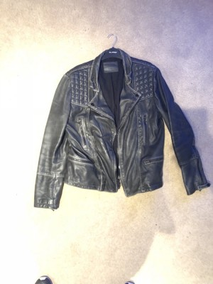 ALL SAINTS - MENS LARGE CARGO JACKET - LEATHER