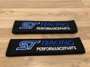 2X Seat Belt Pads Cotton Gift Ford ST Racing Fiesta Focus Ralli Tuning