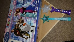 Disney frozen puzzles and wands