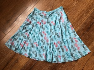 Size 12 circus vintage skirt with bicycle print