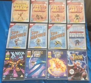 x12 marvel hero's DVD's brand new and factory sealed