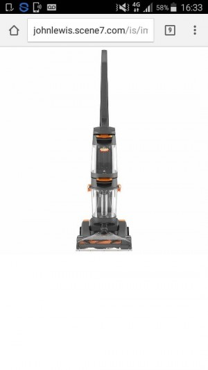 Vax W86-DP-B Upright Carpet Cleaner/Washer