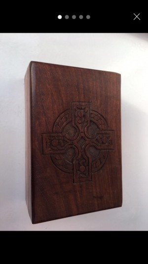 wooden box witches tarot cards