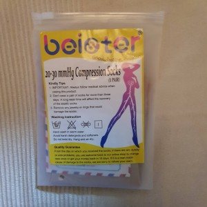 Beister Open Toe Knee High Calf Compression Socks Size Medium