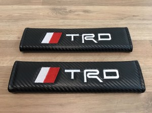 2X Seat Belt Pads Carbon Gifts Toyota TRD Sport Racing Tacoma Avensis