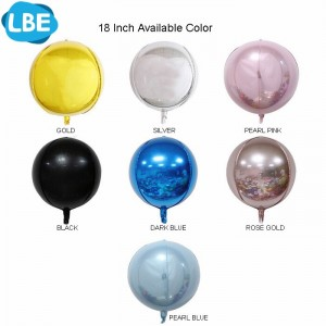 18inch orb sphere balloons in choice of colours