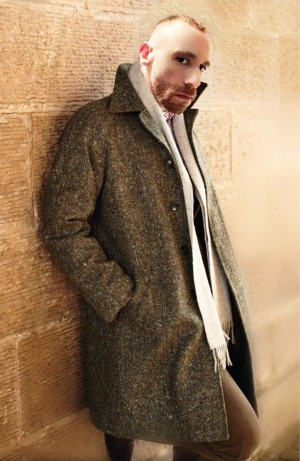 Bruce Field Wool and Mohair Blend Overcoat