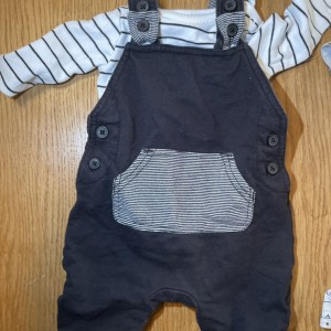 Baby front pocket dungarees