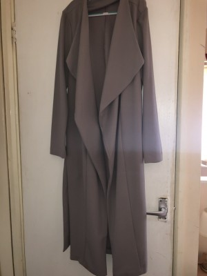 Ladies grey waterfall jacket