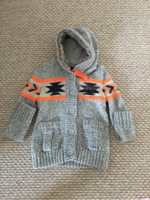 bnwt Superdry Grey and Orange cardigan
