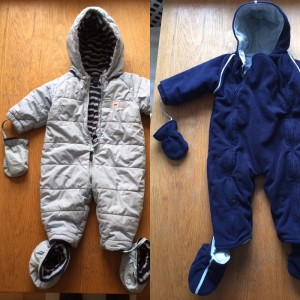 Baby wintersuits 3/6/9/12/18mths