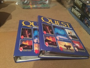 Quest Adventures in the World of Science Issues x2 Collector Binders K