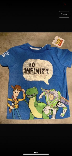 Brand new with tags Disney toy story reversible sequin top 4-5