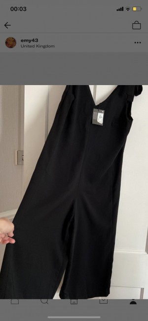 Brand new with tags black Primark play suit size 8