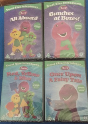 x4 barney DVD's brand new and factory sealed
