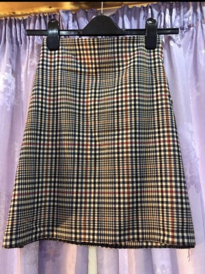 New Look check skirt size 14