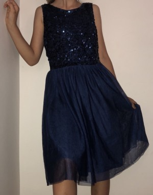 H&M Blue Summer Glittery Dress For Girls Aged 13-14