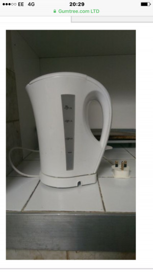 Kettle and toaster as a set