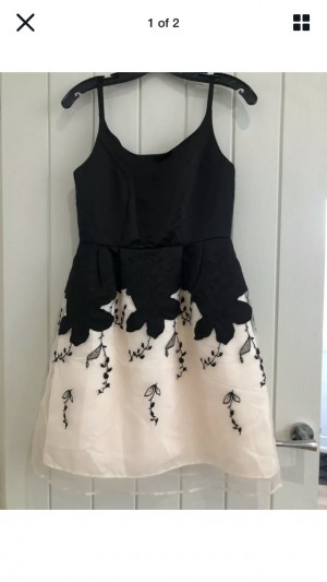 Brand new with tags Asos Party Dress Tulle Skirt Size 10 Black & Cream
