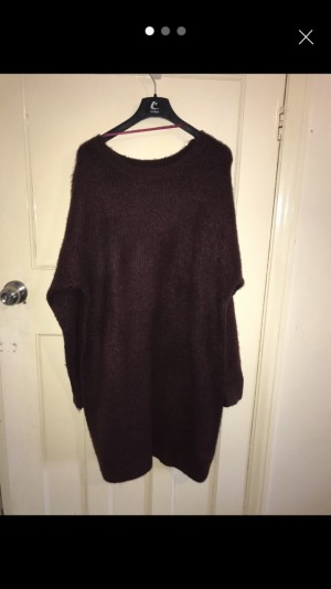 maroon knit dress jumper size large