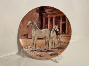 Vintage Porcelain Decorative Plate The Arabian The Noble Horse Gifts