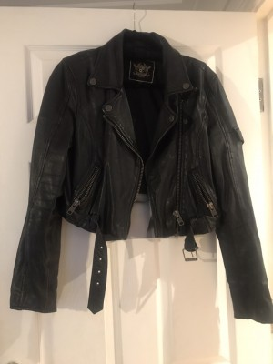 River Island Real Leather Jacket Hipster Cool Fashion UK 12
