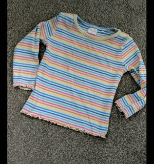 Next stripey 🌈 top 9-12m