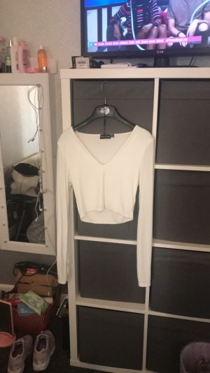 Pretty little thing white top size 8
