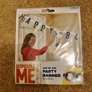Despicable Me Happy Birthday Add Age Banner Party Decoration Bunting G
