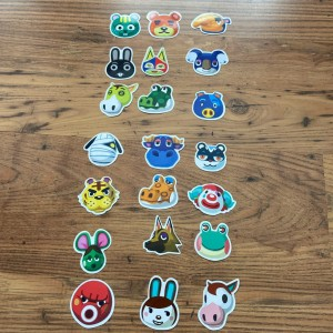 21 Brand new assorted animal crossing character stickers