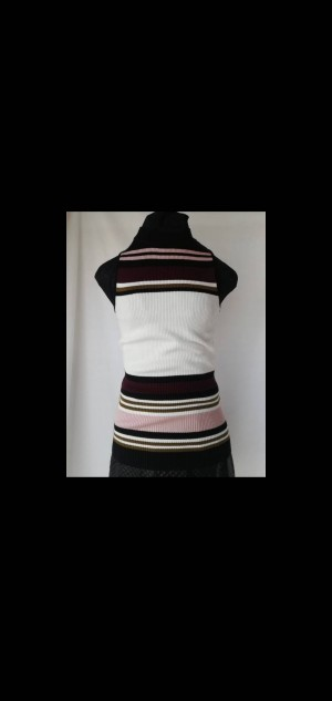 new look colour block sleeveless ribbed best size 6 bnwt