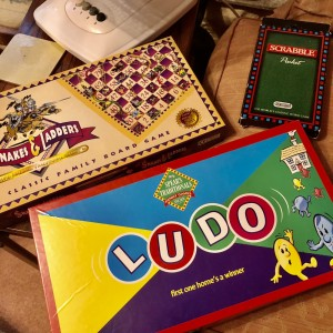 Set of 3 Kids Board Games Ludo, Scrabbles And Snakes & Ladders