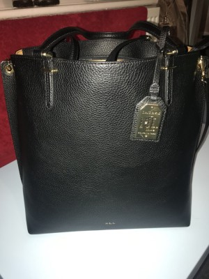 RALPH LAUREN ANFIELD ABBEY TOTE LEATHER BAG