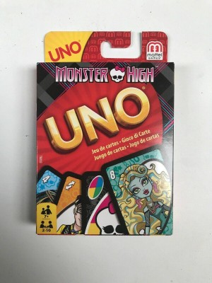 Monster High UNO cards