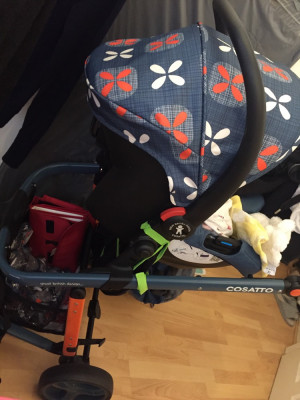 Cosatto giggle2 baby pushchair with car seat and carrycot