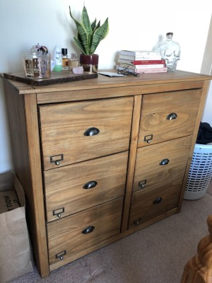 Sturdy pine chest of drawers