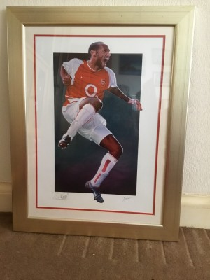 THIERY Henry print framed and signed