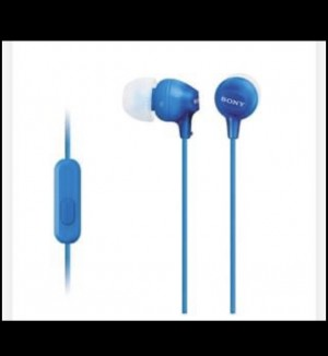 Brand New Sony In Ear Wired Headphones Blue In Box