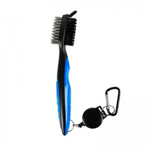 Golf Club Cleaning Tool Groove Brush Cleaner for Iron Wood Clubs-Blue