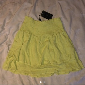 love and other things yellow frill shirred skirt size xs
