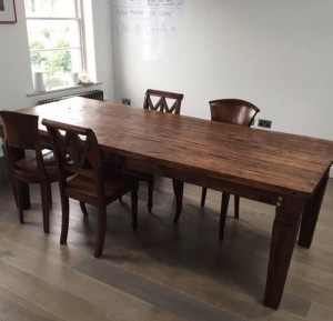 Very large oak table, sits 10 ppl, shipped from Bali