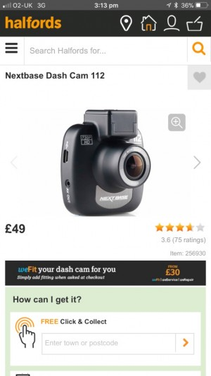 NEXTBASE 112 DASHCAM