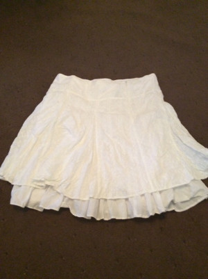 Lacey white skirt