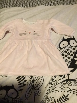 Baby Girls Long Sleeved Dress - Aged 0-3 Months