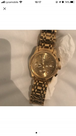 Gold plated watch 18k